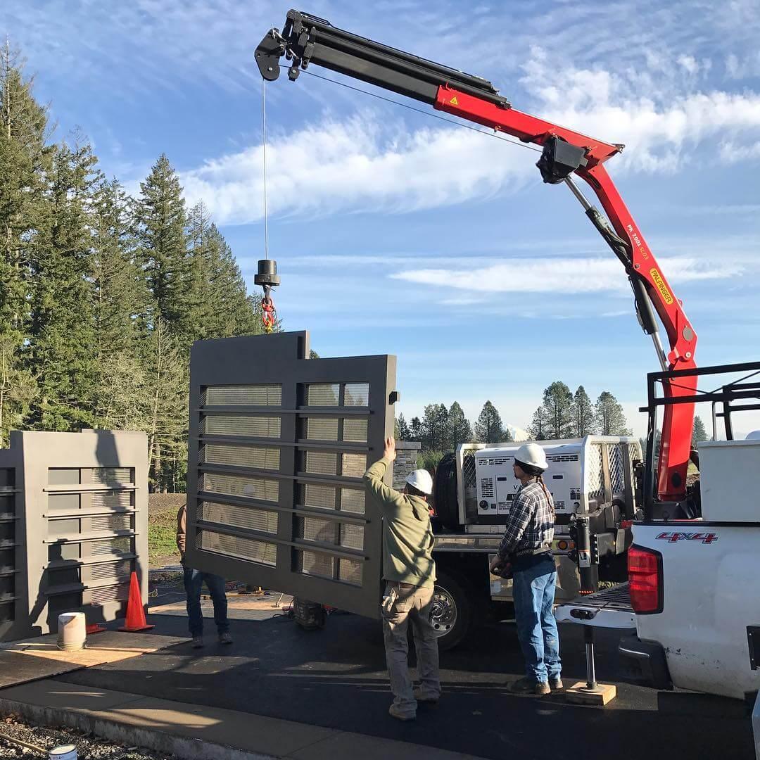 Aluminum Gate Installation